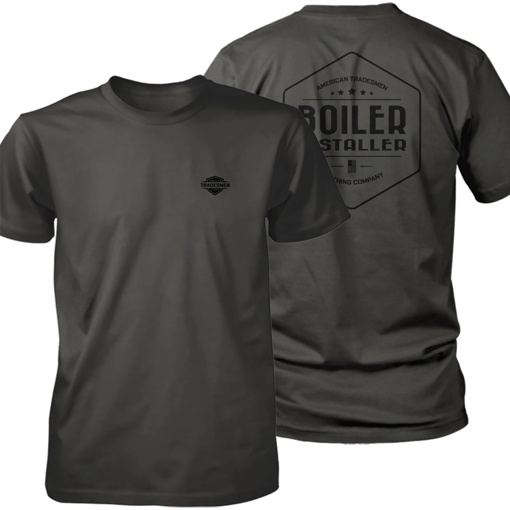 Boiler Installer shirt in black