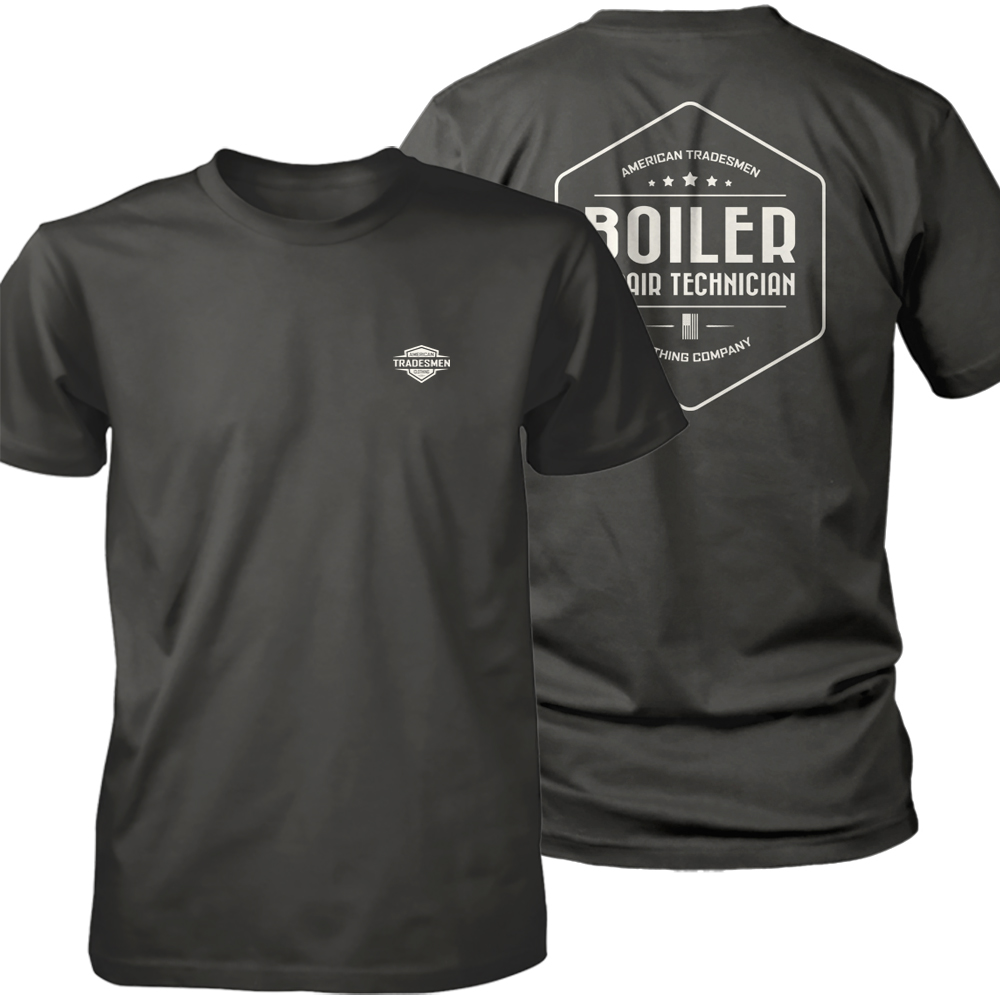 Boiler Repair Technician shirt in white
