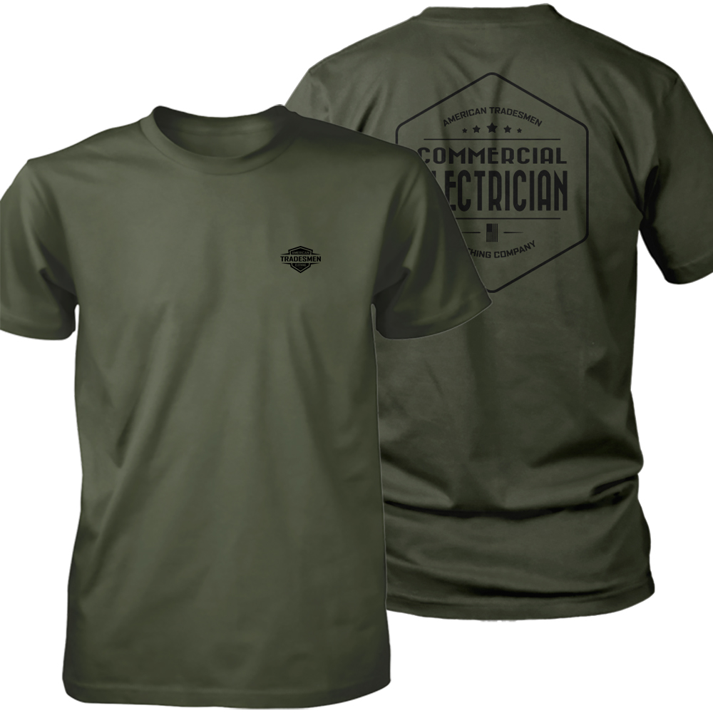 Commercial Electrician Operator shirt in black
