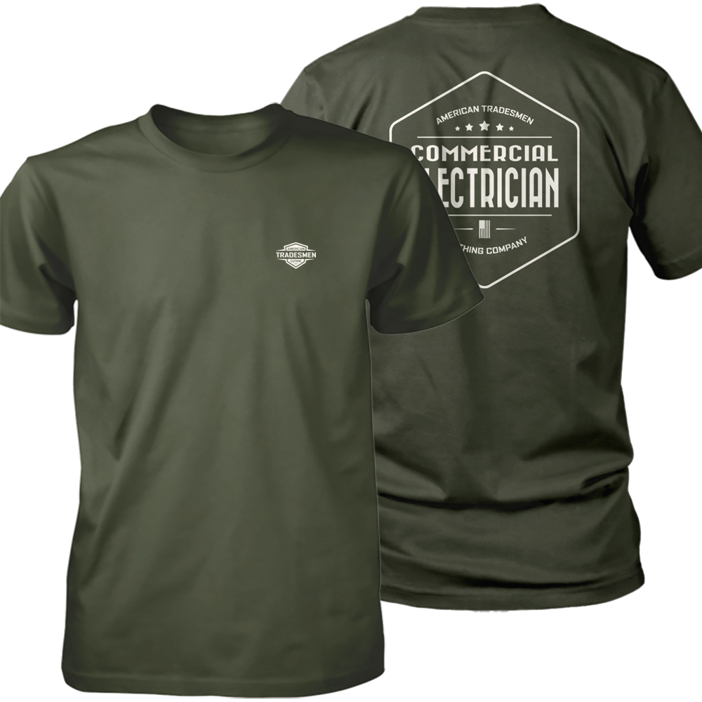 Commercial Electrician shirt in white