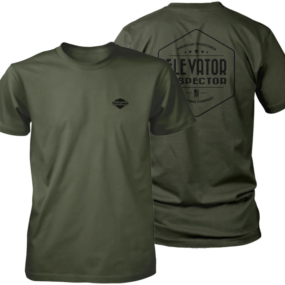 Elevator Inspector shirt in black