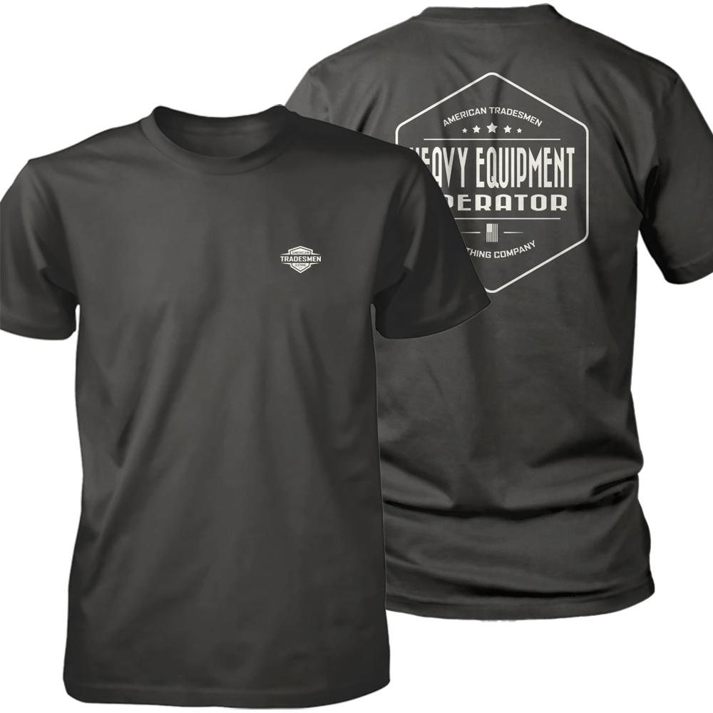 Heavy Equipment Operator shirt in white