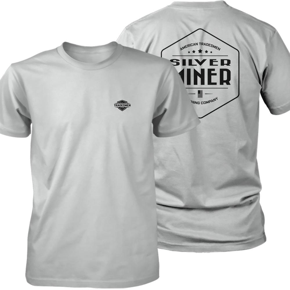 Silver Miner shirt in black