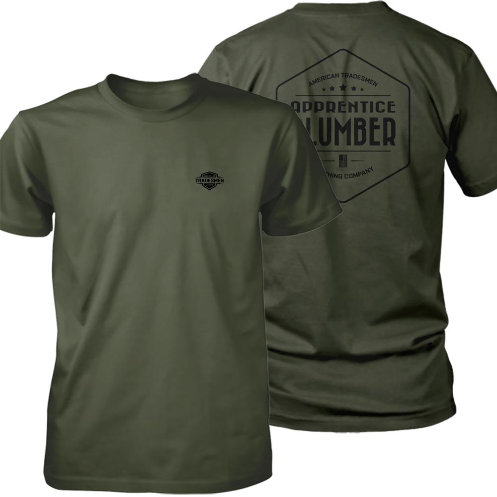 Apprentice Plumber shirt in black