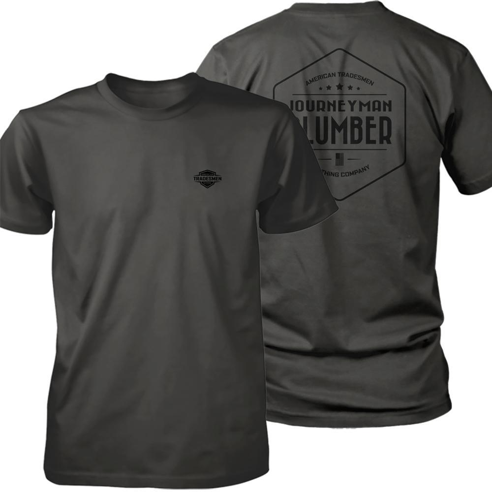 Journeyman Plumber shirt in black